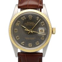 Rolex Oyster Datejust Gold Steel Black Jubilee Dial 36 mm (1984)