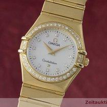 Omega Lady 18k Gold Constellation Diamanten Damenuhr 8951.201