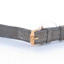 Omega Vintage Green Strap With Solid 18k Yellow Gold Tang Buckle
