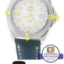 Breitling Wings Two-Tone 18K Gold Stainless Silver 31.5mm...