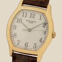 Patek Philippe Gondolo Yellow Gold - on Strap with Silver Dial