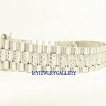 勞力士 (Rolex) Aftermarket 18k WG Diamond Bracelet Band for Ladie...