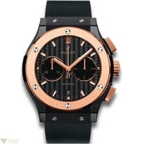 Hublot Classic Fusion Black Magic Chronograph Ceramic 18k Rose...