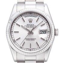 Rolex Day-Date 36 18 kt Weißgold Ref. 118239 Silber