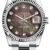 Rolex New Style Datejust Stainless Steel  Fluted Bezel & ...