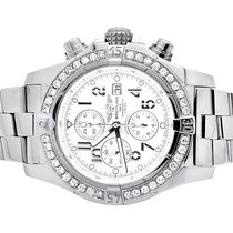 Breitling A13370 Super Avenger White Dial Stainless Steel with...