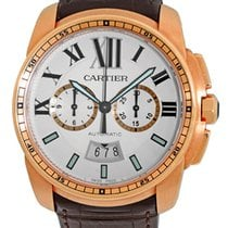 "Cartier ""Calibre de Cartier Chronographe"" Strapwatch."