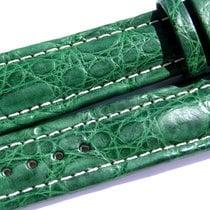 Breitling Band 20mm Croco Green Verde Grün Strap Ib011