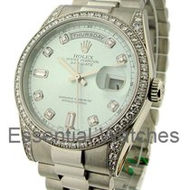 Rolex Unworn 118296 Platinum Mens President Day-Date - Glacier...
