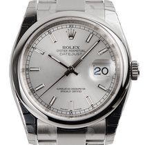 Rolex DateJust 36 Steel Silver/Index Oyster 116200