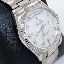 Rolex President Day-date 118239 18k White Gold Mop Diamond...
