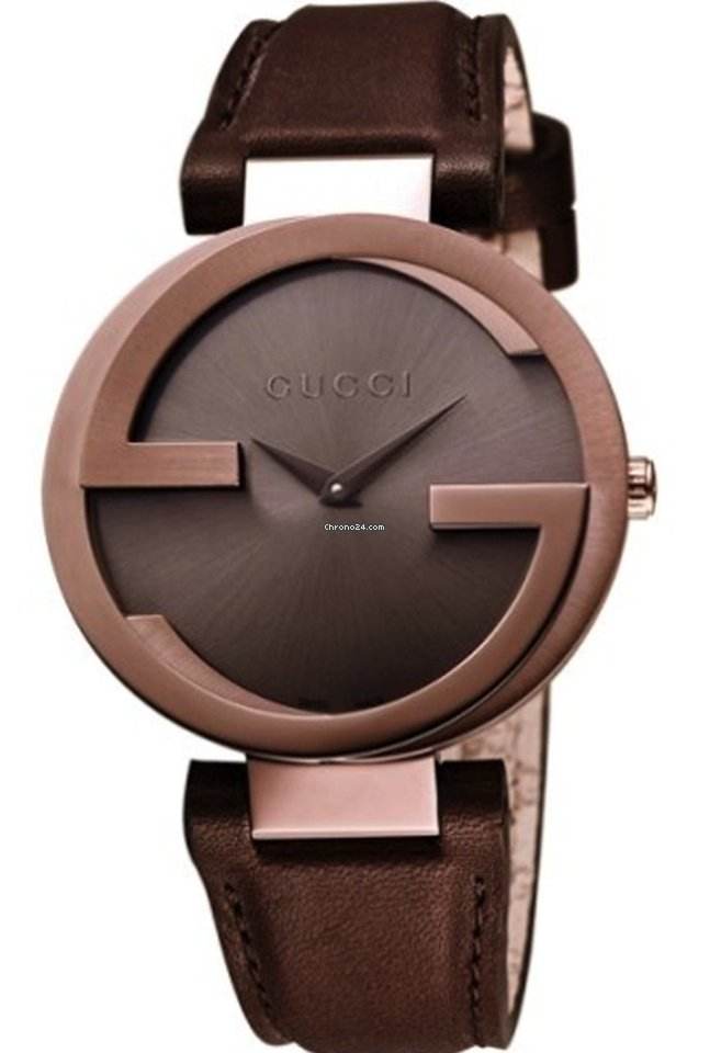 cab403a708c Gucci Interlocking Brown Strap Brown PVD Steel 37MM Women s... for  690 for  sale from a Trusted Seller on Chrono24