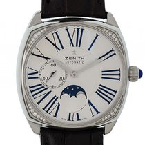 Zenith Star Moonphase Stahl Diamond Automatik 37x37mm