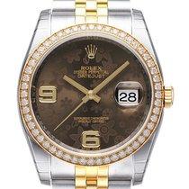 Ρολεξ (Rolex) Datejust 36 Edelstahl Gelbgold Diamant 116243...
