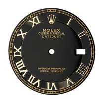 Rolex DateJust 41mm Black/Gold Roman Numerals Original Factory...