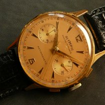 OLYMPIC vintage chronograph 18K/750 solid gold, Landeron 48,...