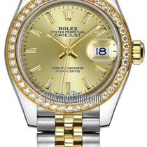 Rolex Lady Datejust 28mm Stainless Steel and Yellow Gold...