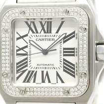 カルティエ (Cartier) Polished Cartier Santos 100 Lm Custom Diamond...