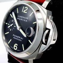 Panerai Luminor Marina Pam48 Limited Edition Black Dial Watch...