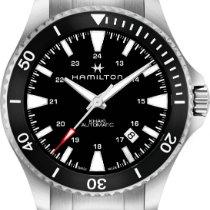 Hamilton Khaki Navy H82335131 Sportliche Herrenuhr 80h...