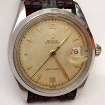 Rolex Vintage 6294  Oysterdate Red Calendar Mens Watch