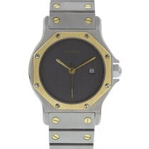 Cartier Midsize Cartier Santos 18K Yellow Gold & SS
