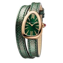 Bulgari Bvlgari Serpenti Skin Pink Gold Green Watch