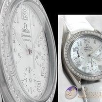 Omega Speedmaster Ladies Chronograph Perlmutt mit Diamantlünet...
