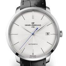 Girard Perregaux 1966 44 MM White Gold Dial White Strap Black...