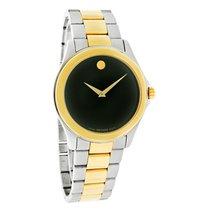 Movado Jr. Sport Mens Museum Black Two Tone Swiss Quartz Watch...