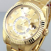 Rolex 326938 Sky Dweller Yellow Gold Champagne Arabic Dial 326938