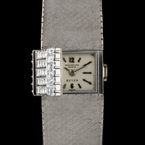 Patek Philippe 18k W/G Rare Concealed Diamond Set Double Name...