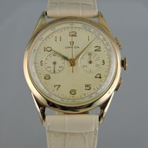 Omega Large 18k Chronograph ref 2465 - cal. 320 serviced
