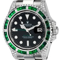 Rolex GMT-Master II Steel Custom Green Bezel 116710LN
