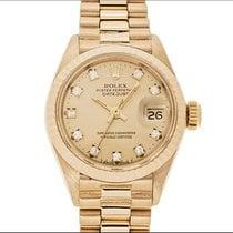 Rolex Datejust Lady (6917/8) Oro Gold diamanti diamonds full