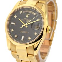Rolex Used 18208 Yellow Gold 36mm President with Oyster...