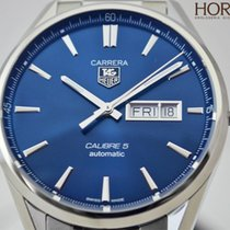 TAG Heuer MEN'S CARRERA CALIBRE 5 DAY-DATE AUTOMATIC BLUE...