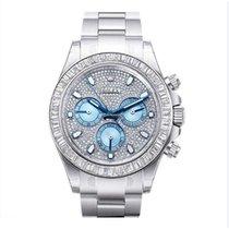 Rolex 116576 Daytona Platinum & Diamond Pave Dial Unisex...