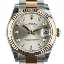 Rolex Datejust Medium 31mm Stahl Gelbgold Diamond Armband...