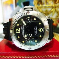 Panerai Luminor Submersible Pam 24 Stainless Steel Rubber 44mm...