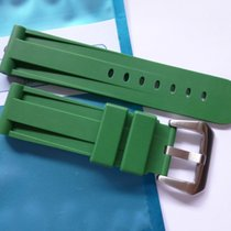 Bodhy Rubber strap in 24mm - Green with buckle 24/22mm fits...
