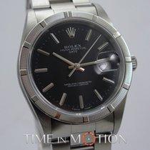 Rolex Oyster Perpetual Date 15210 Noire Certif Rolex Boite...