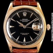 롤렉스 (Rolex) Datejust 6305 Ovettone 18k Rose Gold Black Dial 1953