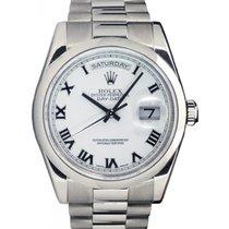 勞力士 (Rolex) Day-Date 36 118209-WHTRDP White Roman White Gold...
