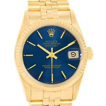 Rolex President Datejust Midsize 18k Yellow Gold Blue Dial...