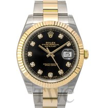 Rolex Datejust 41 Black/18k gold Oyster Dia 41mm - 126333 G