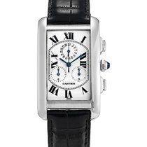 Cartier 2312 Tank Américaine White Gold Chronograph