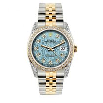Rolex Datejust Men's 36mm Blue Jubilee  Dial Gold And...