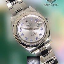 Rolex Datejust II Steel/18k White Gold Rhodium/Purple Watch...
