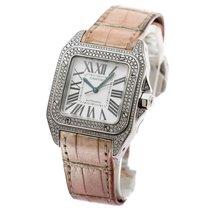 Cartier - Cartier Santos 100 Medium Size In 18K White Gold-...